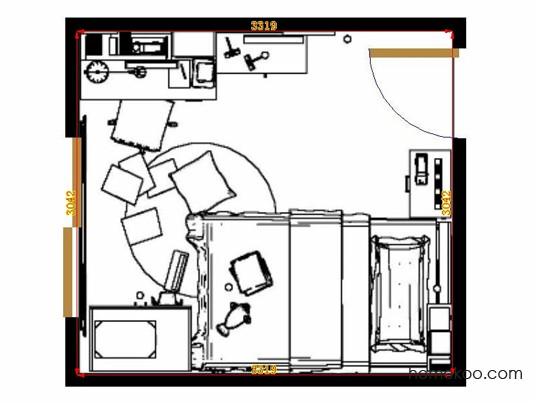 平面布置图斯玛特系列青少年房B12102
