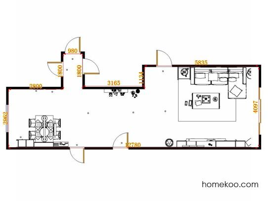 平面布置图乐维斯系列客餐厅G14262