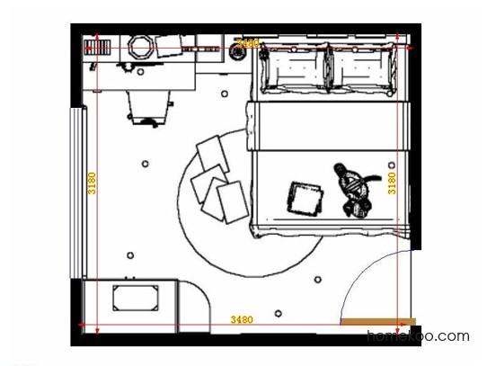 平面布置图乐维斯系列青少年房B12122