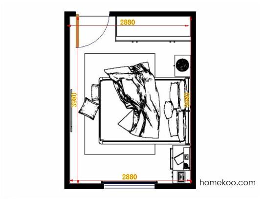 平面布置图柏俪兹系列卧房A14123