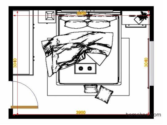 平面布置图斯玛特系列卧房A14126