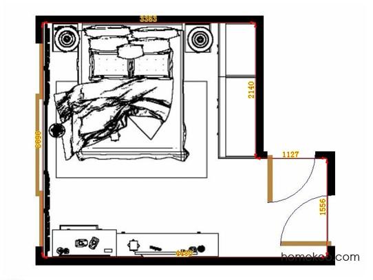 平面布置图格瑞丝系列卧房A14128