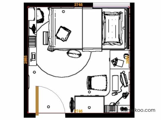 平面布置图贝斯特系列青少年房B12138
