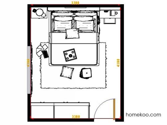 平面布置图贝斯特系列卧房A14141