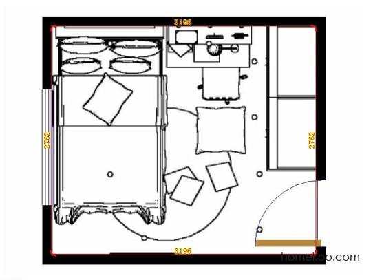 平面布置图乐维斯系列青少年房B12154