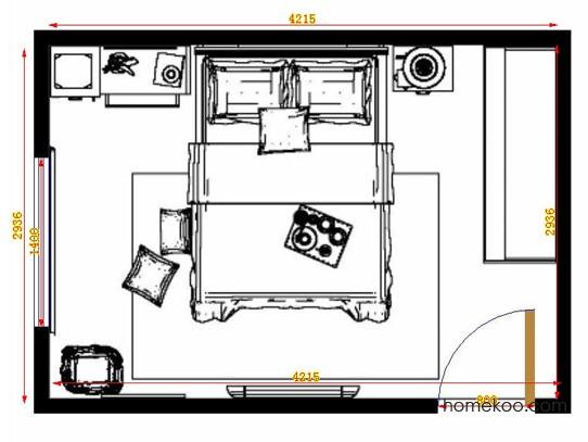 平面布置图格瑞丝系列卧房A14150