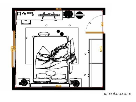 平面布置图柏俪兹系列卧房A14160