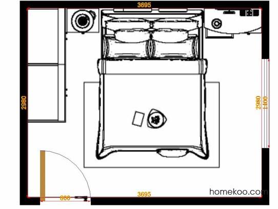 平面布置图乐维斯系列卧房A14163