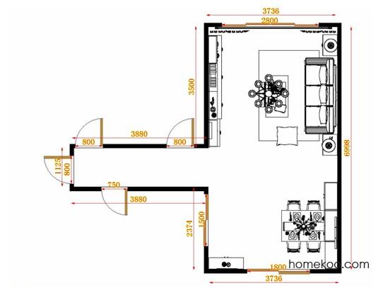 平面布置图贝斯特系列客餐厅G14275