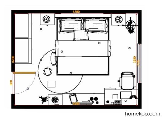 平面布置图乐维斯系列卧房A14166