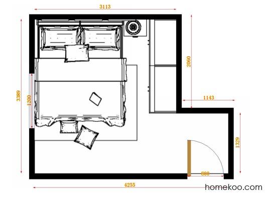 平面布置图柏俪兹系列卧房A14170