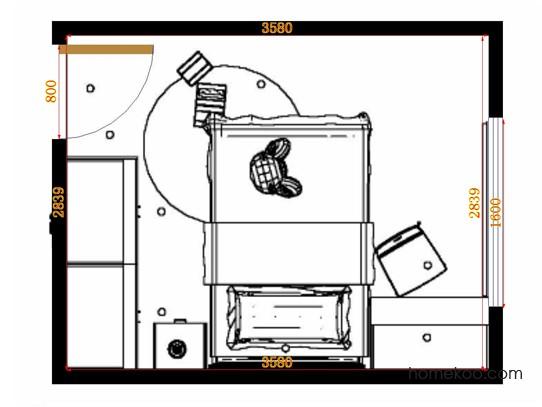 平面布置图柏俪兹系列青少年房B12193