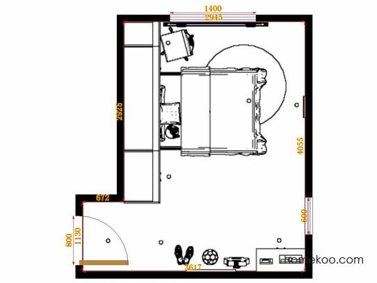 平面布置图乐维斯系列青少年房B12200