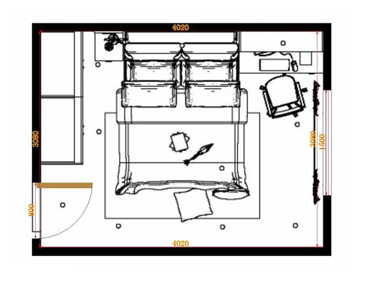 平面布置图格瑞丝系列卧房A14174