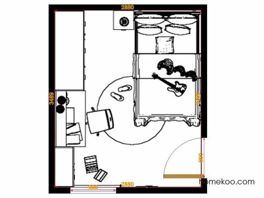 平面布置图贝斯特系列青少年房B12202