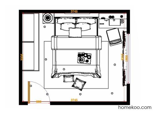 平面布置图斯玛特系列卧房A14180