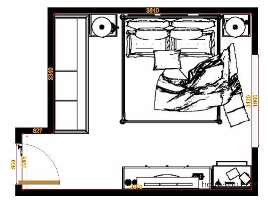 平面布置图柏俪兹系列卧房A14182