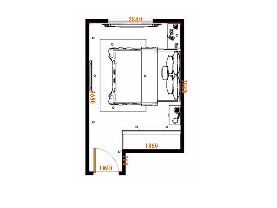 平面布置图乐维斯系列卧房A14193