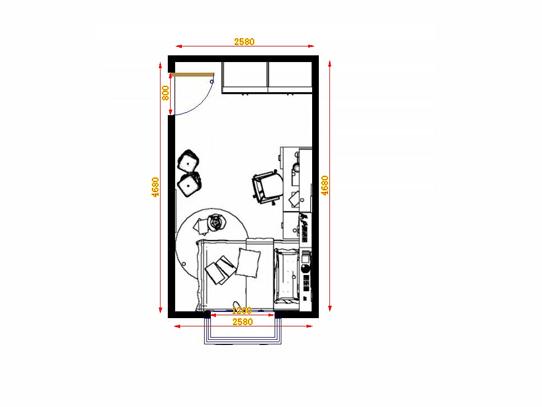 平面布置图贝斯特系列青少年房B12222