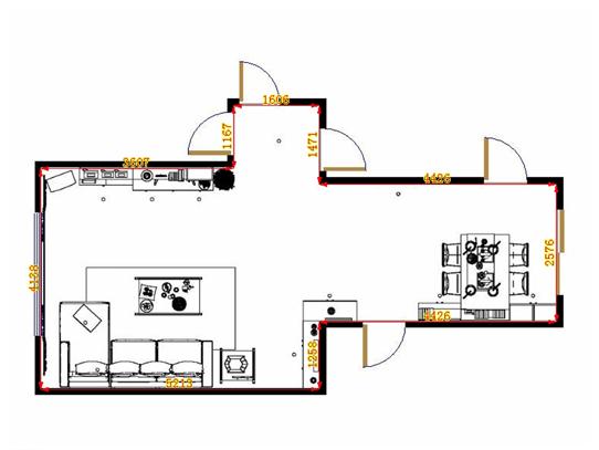 平面布置图乐维斯系列客餐厅G14285