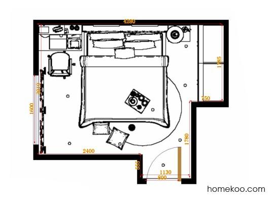 平面布置图德丽卡系列卧房A14201