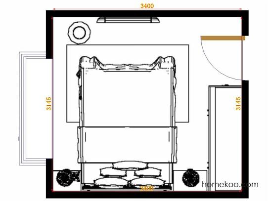 平面布置图乐维斯系列卧房A14206