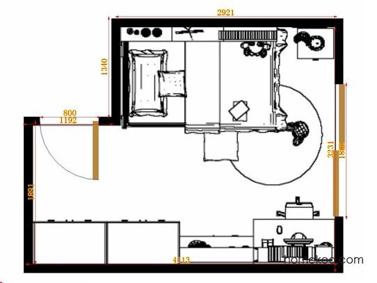 平面布置图贝斯特系列青少年房B12240
