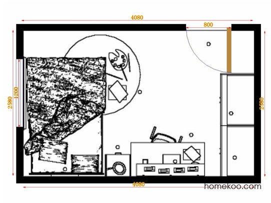 平面布置图格瑞丝系列青少年房B12246