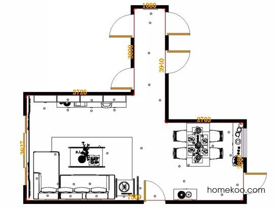 平面布置图柏俪兹系列客餐厅G14286
