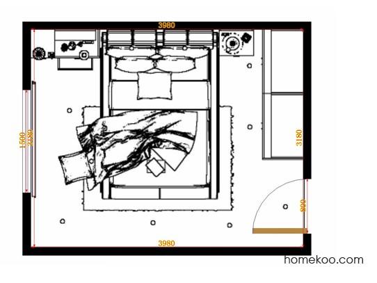 平面布置图贝斯特系列卧房A14223