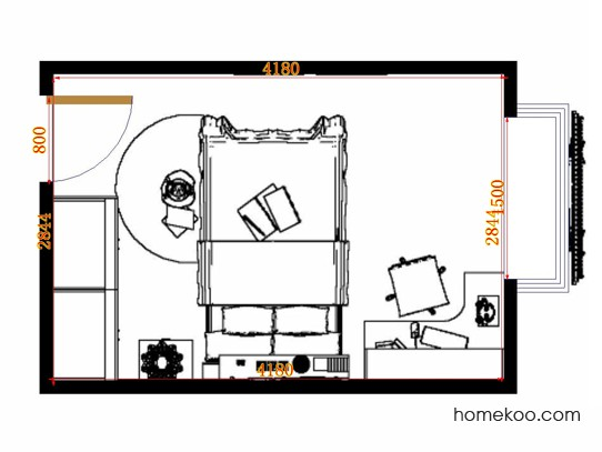 平面布置图乐维斯系列青少年房B12250