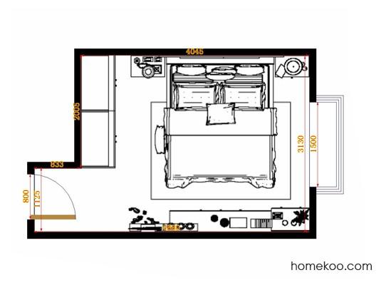 平面布置图柏俪兹系列卧房A14226