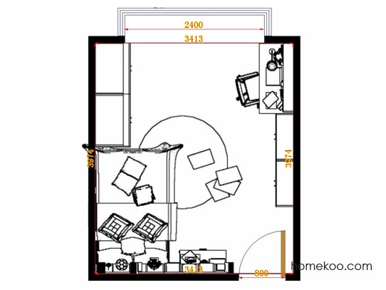 平面布置图斯玛特系列青少年房B12265