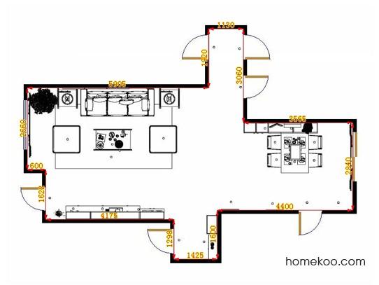 平面布置图德丽卡系列客餐厅G14296