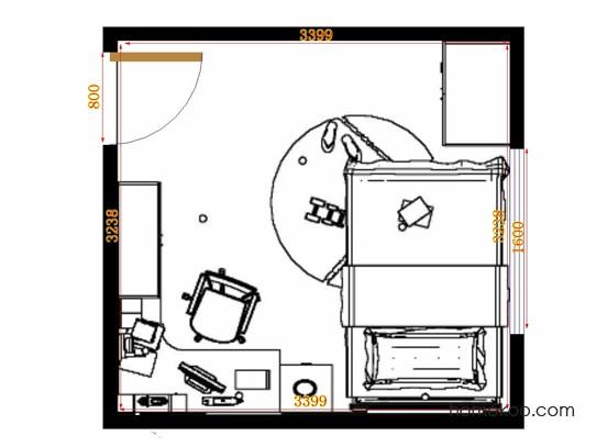 平面布置图德丽卡系列青少年房B12267