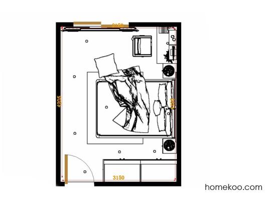 平面布置图格瑞丝系列卧房A14227