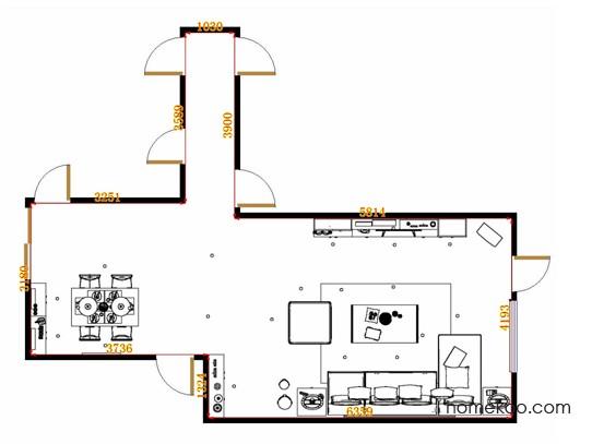平面布置图贝斯特系列客餐厅G14310