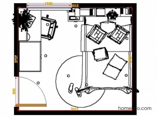 平面布置图柏俪兹系列青少年房B12295