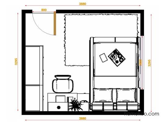 平面布置图乐维斯系列卧房A14244