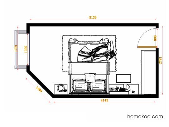 平面布置图格瑞丝系列卧房A14246