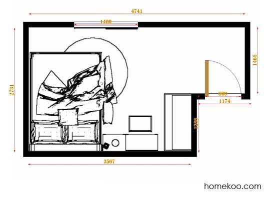 平面布置图贝斯特系列卧房A14258