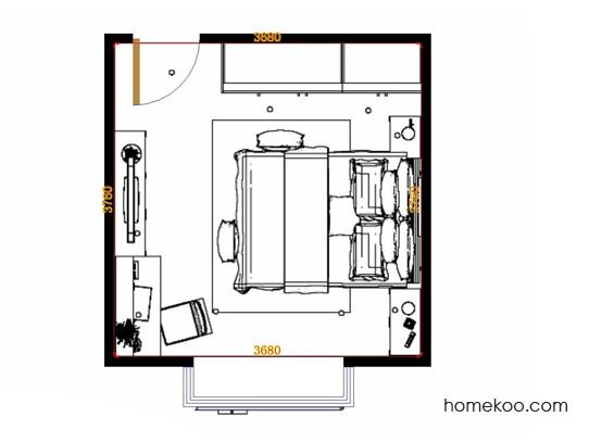 平面布置图斯玛特系列卧房A14262