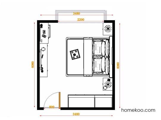 平面布置图格瑞丝系列卧房A14264
