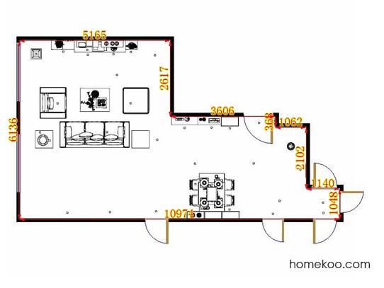 平面布置图贝斯特系列客餐厅G14345