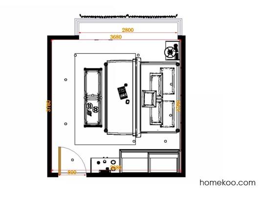 平面布置图乐维斯系列卧房A14266