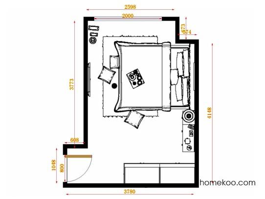 平面布置图柏俪兹系列卧房A14269
