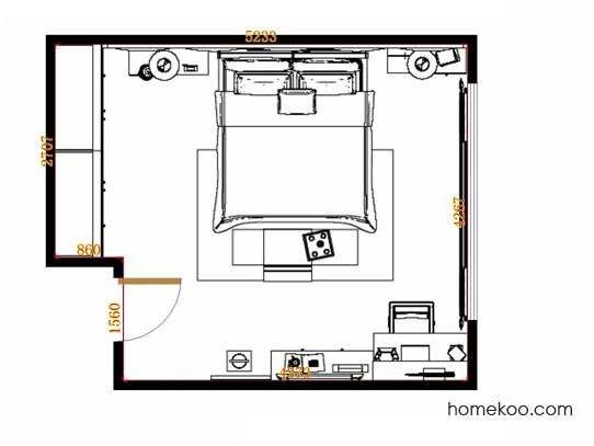 平面布置图贝斯特系列卧房A14271