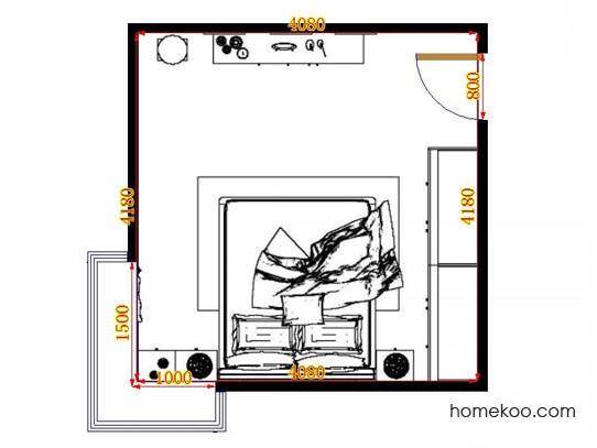 平面布置图贝斯特系列卧房A14273