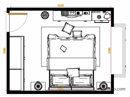 平面布置图斯玛特系列卧房A14281
