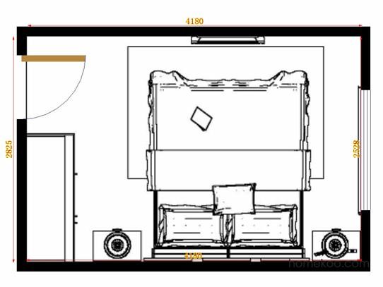 平面布置图斯玛特系列卧房A14286